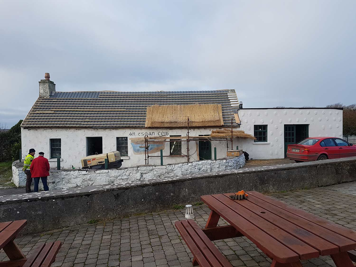 first steps of thatching service