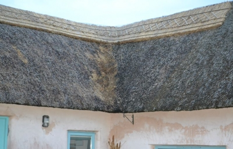 corner thatching cottage