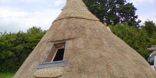 traditionally thatched crannog brigits garden