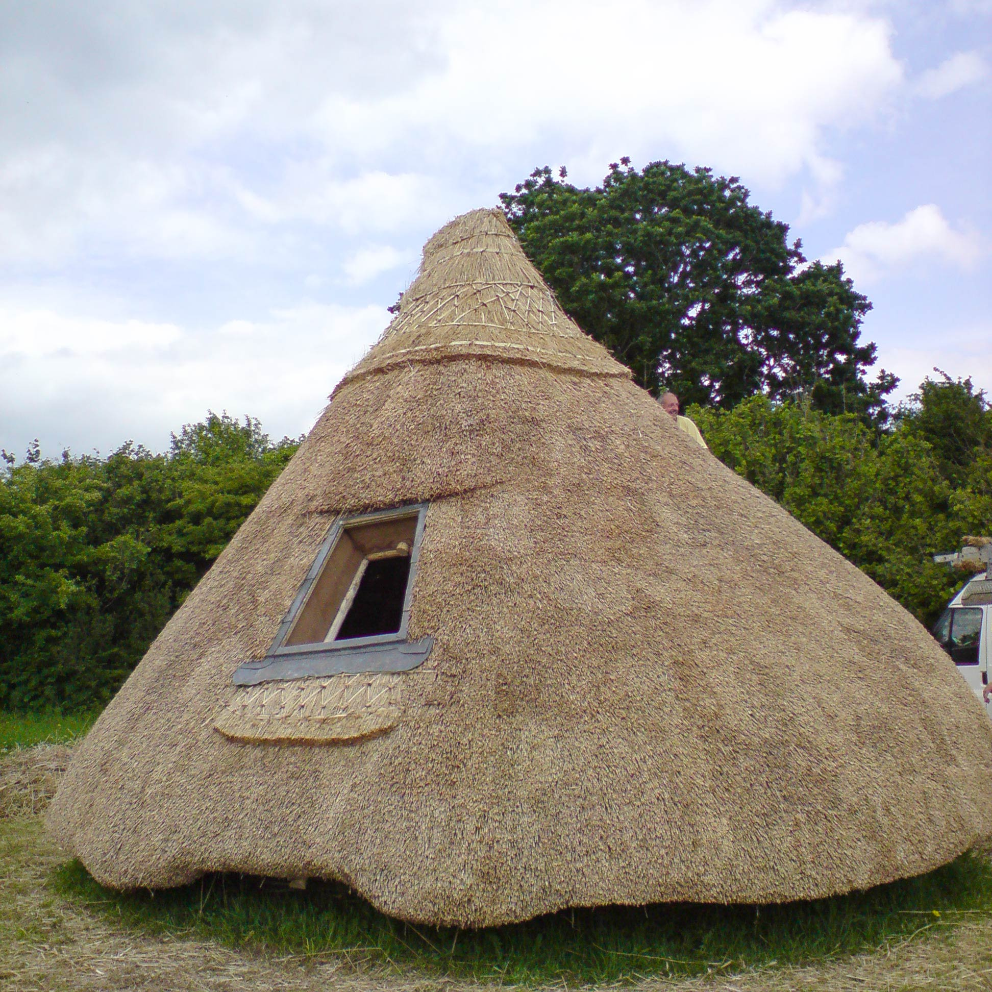 traditionally thatched crannog brigits garden