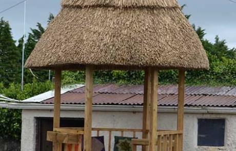 final gazebo thatch after construction