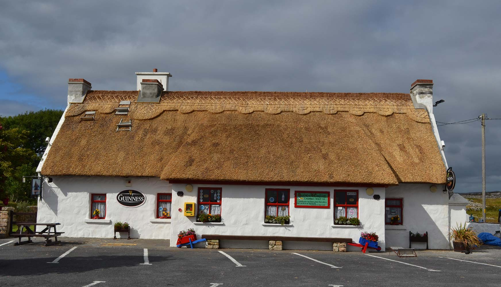 traditional celtic thatched roof