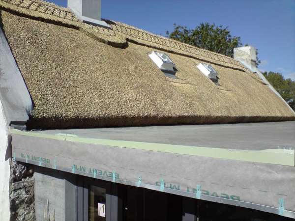 light coloured thatch moycullen house