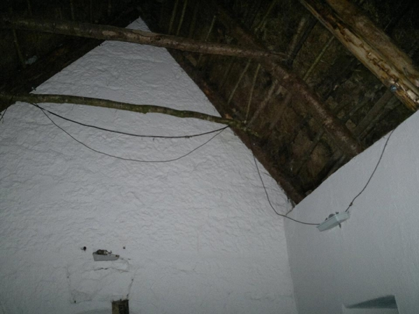 structural repair to thatch roof